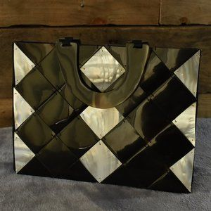 Vintage Faux Tortoise Shell Handbag